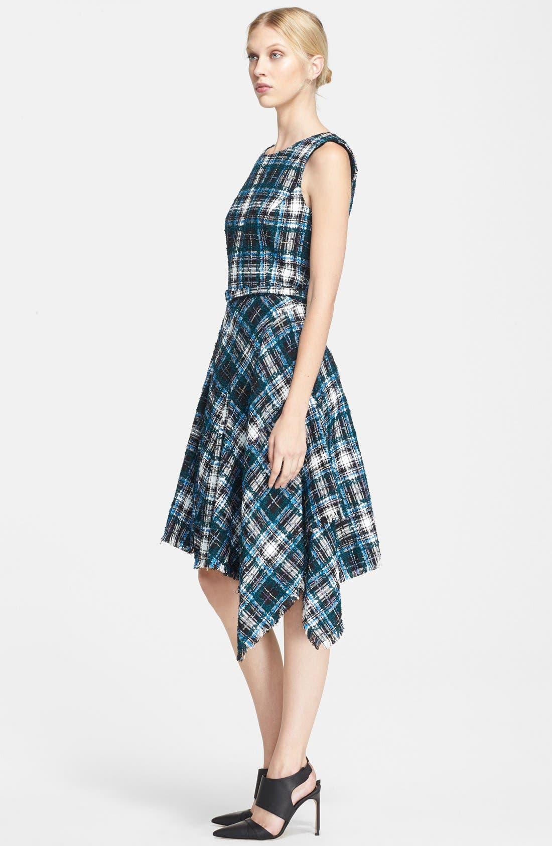 Alternate Image 3  - Oscar de la Renta Asymmetrical Tweed Dress