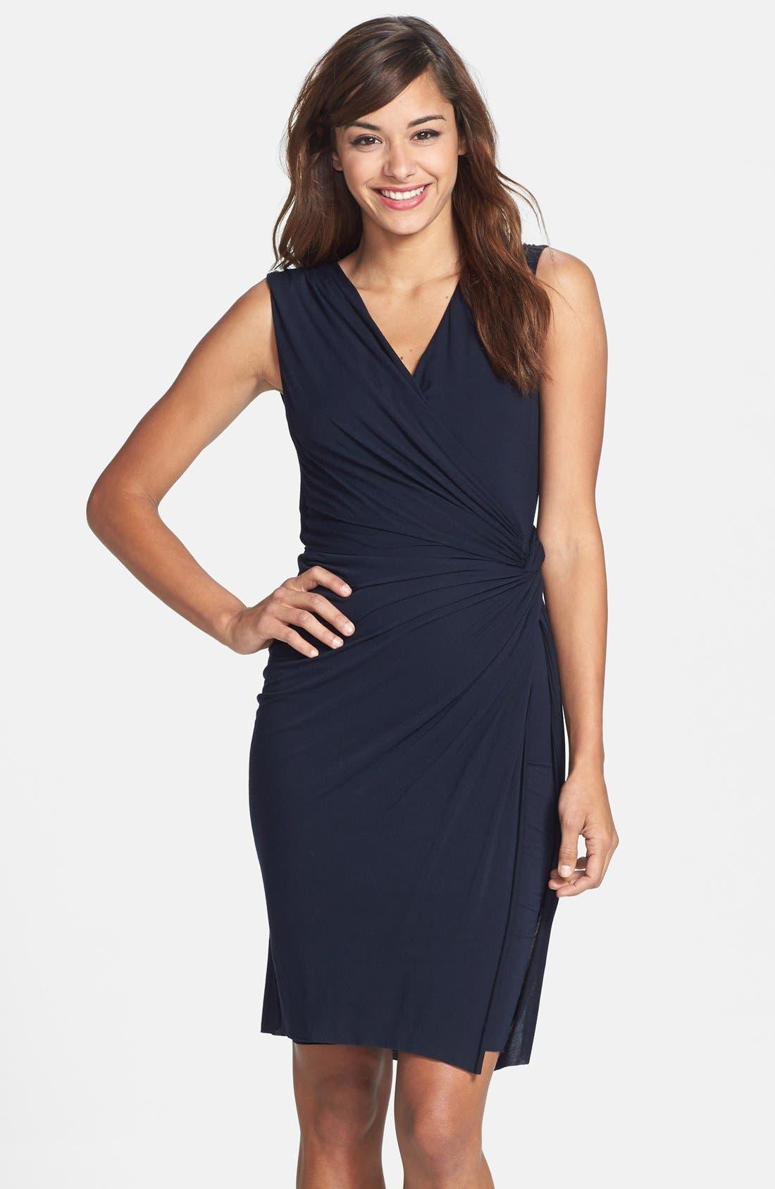 Alternate Image 1 Selected - B44 Dressed by Bailey 44 'Drop Kick' Faux Wrap Jersey Dress