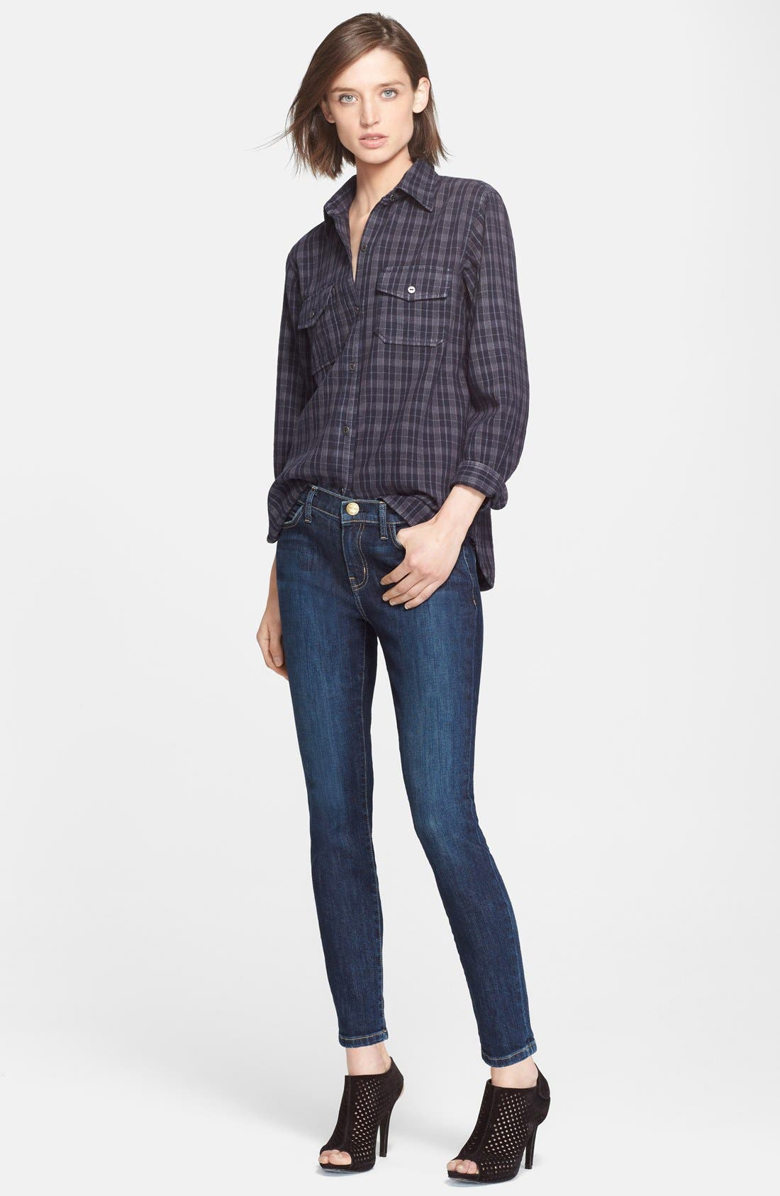 Alternate Image 4  - Current/Elliott 'The Stiletto' Skinny Jeans (Alumni)