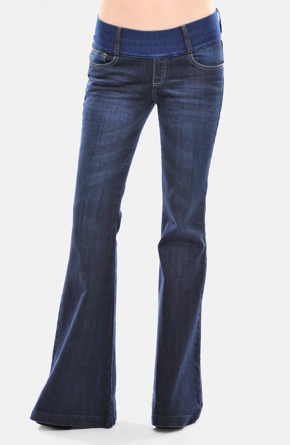 Alternate Image 1 Selected - Olian Flare Maternity Jeans