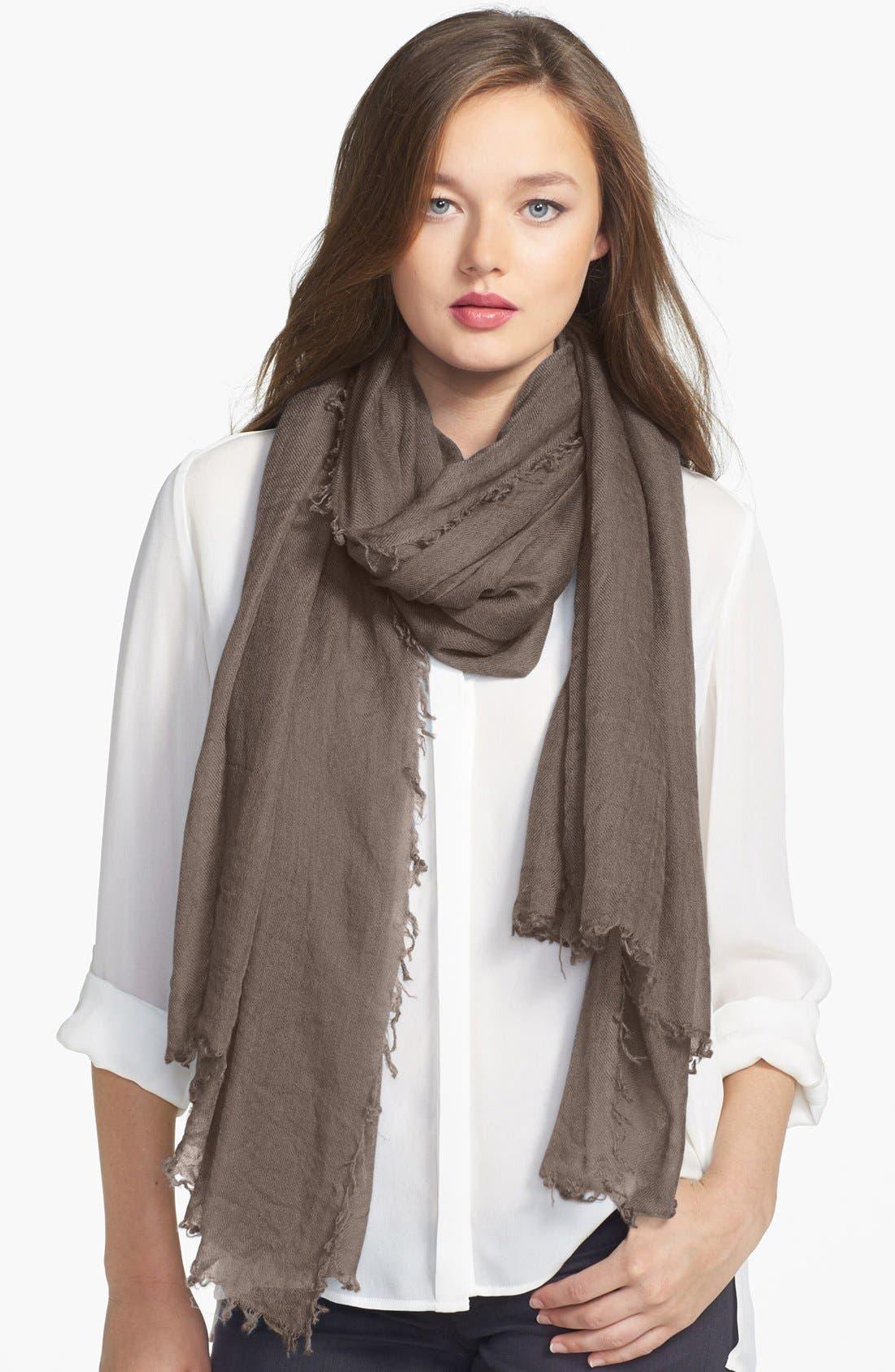 Main Image - Halogen® Crinkled Cashmere Wrap