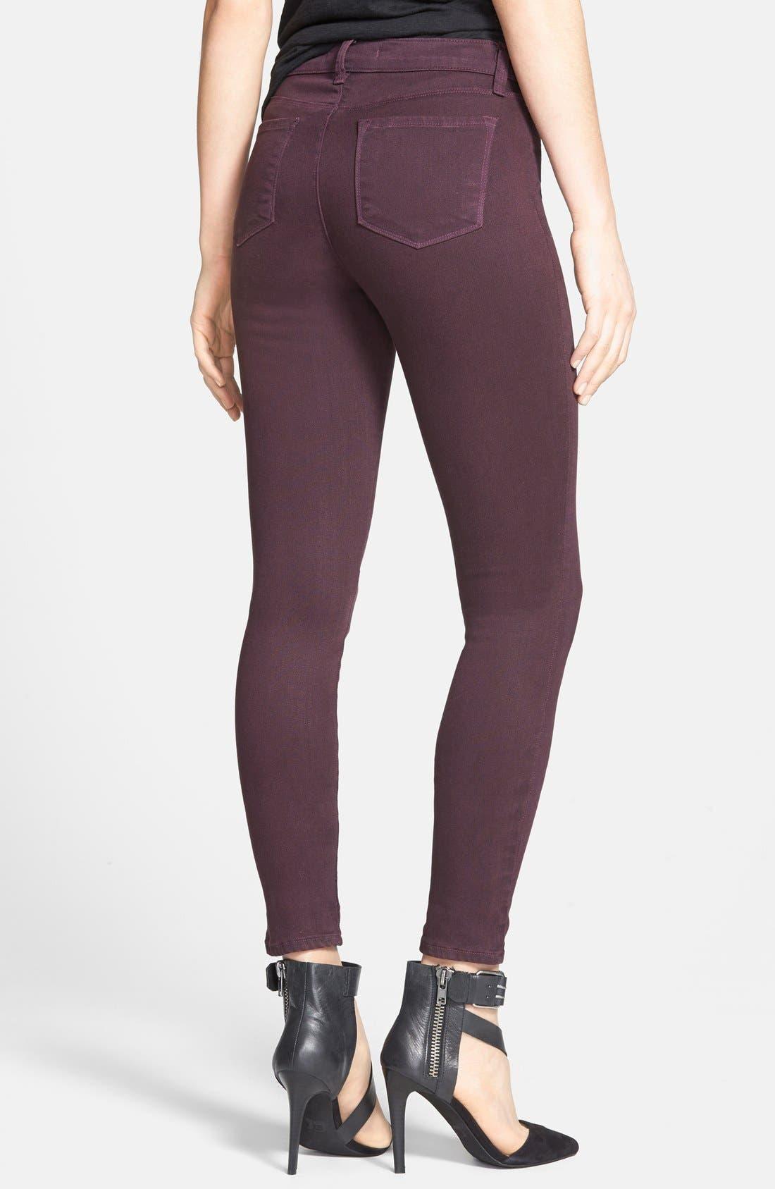 Alternate Image 2  - J Brand '485' Skinny Jeans (Dark Plum)
