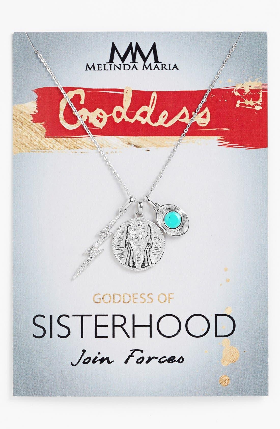 Main Image - Melinda Maria 'Goddess of Sisterhood' Boxed Cluster Pendant Necklace