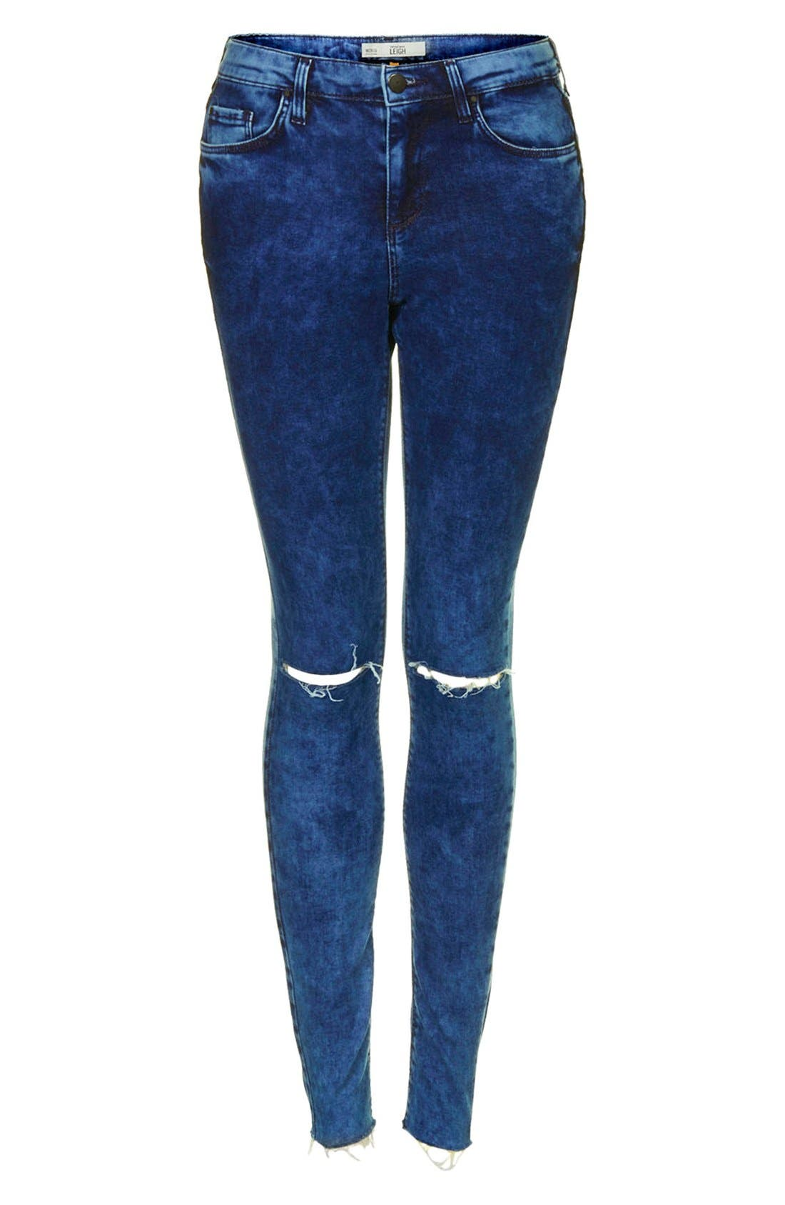 Alternate Image 3  - Topshop Moto 'Leigh' Ankle Skinny Jeans (Navy Blue)
