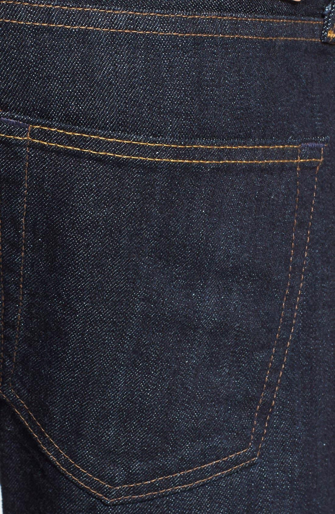 Alternate Image 4  - AG 'Dylan' Skinny Fit Selvedge Jeans (Alpha)