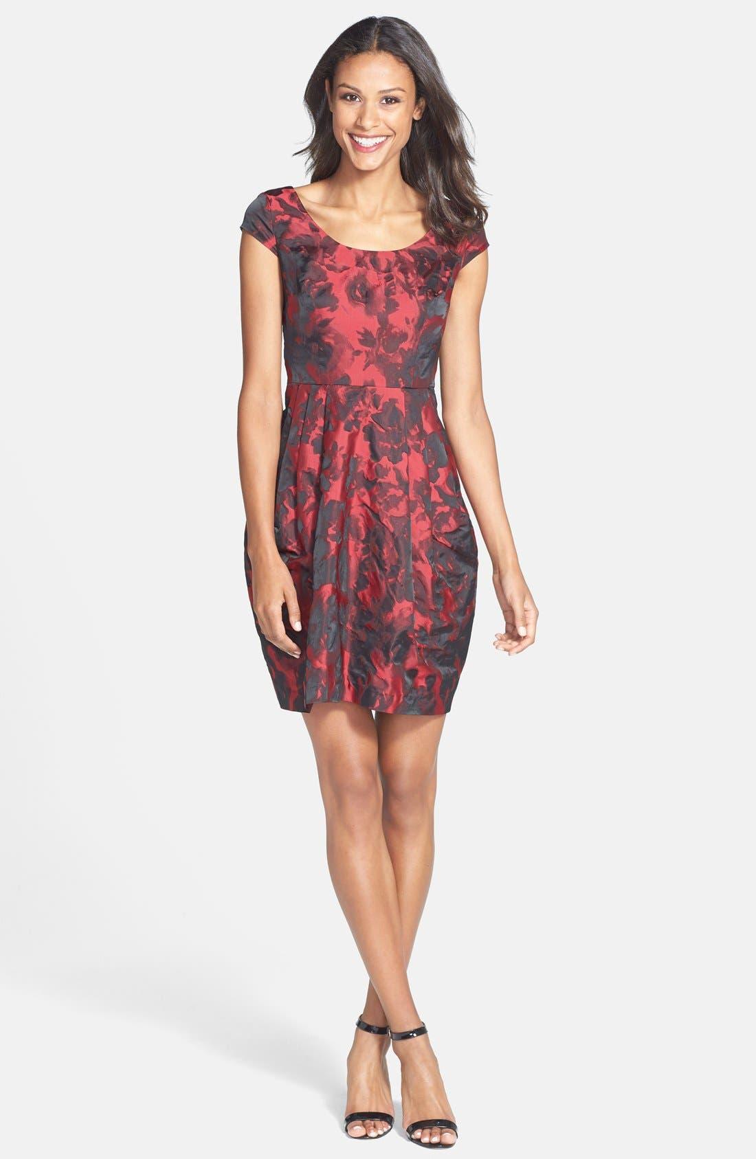 Alternate Image 3  - Betsey Johnson Floral Jacquard Sheath Dress