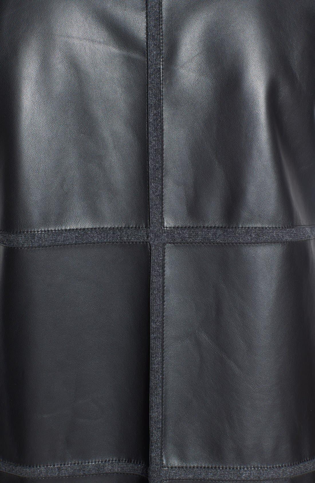 Alternate Image 3  - Lafayette 148 New York Leather Back Merino & Cashmere Vest (Plus Size)
