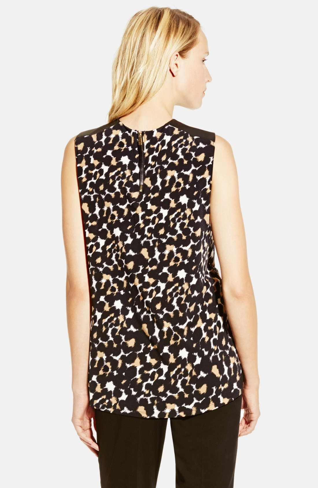 Alternate Image 2  - Vince Camuto Faux Leather Trim Print High/Low Top