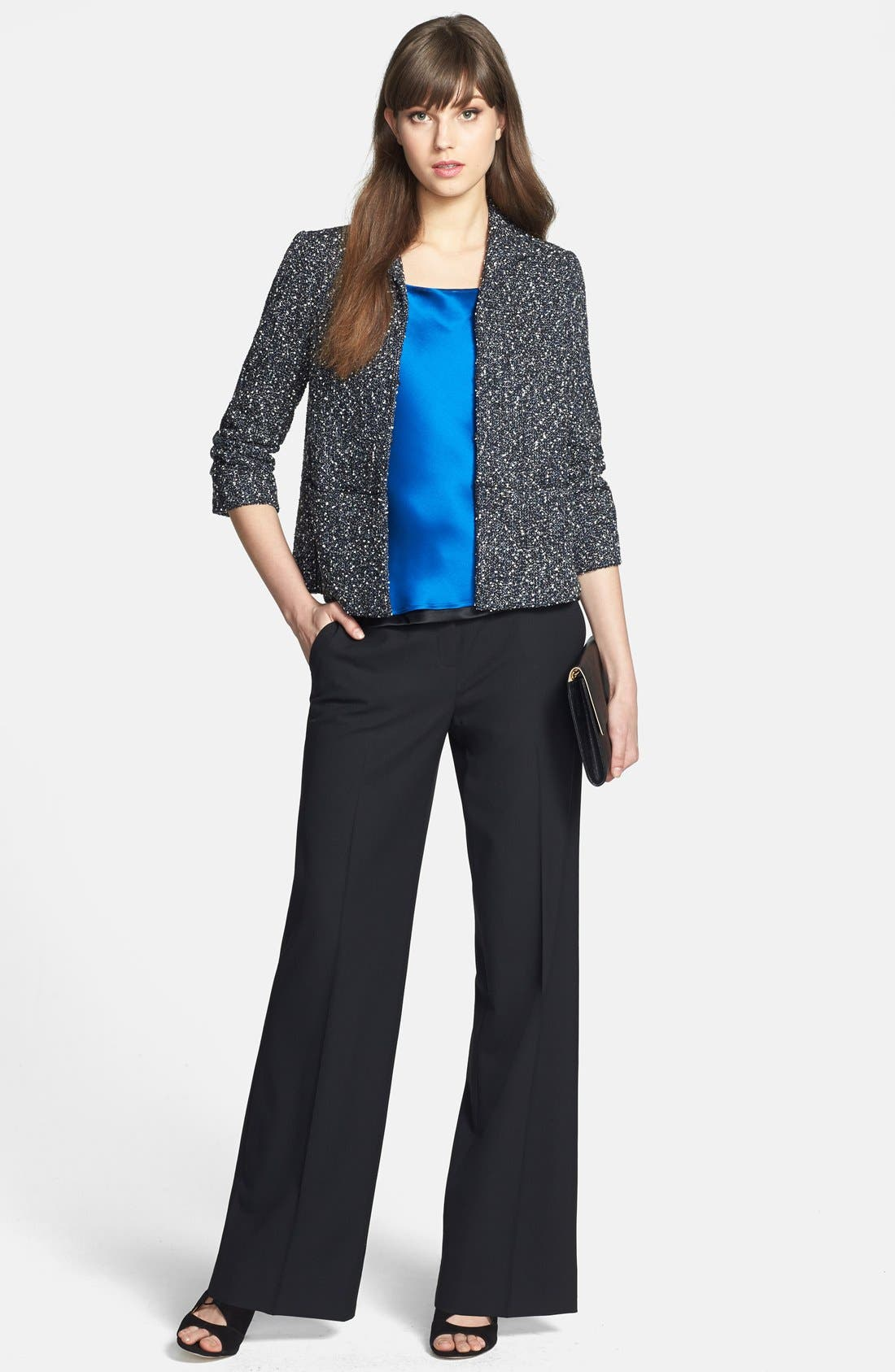 Alternate Image 5  - Lafayette 148 New York 'Delancey' Stretch Wool Pants