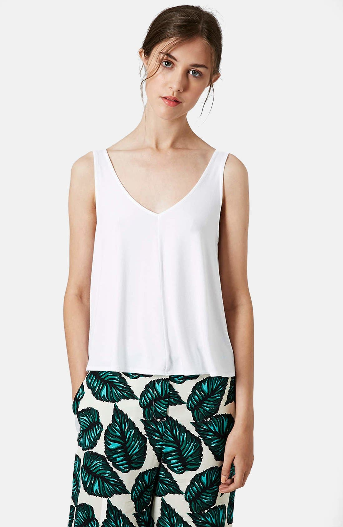 Alternate Image 1 Selected - Topshop Crepe Swing Tank