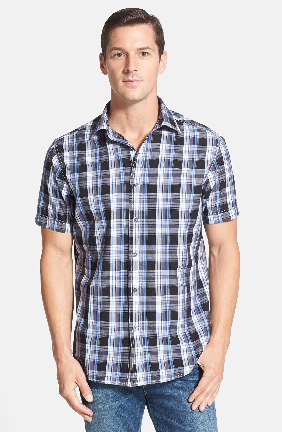 Main Image - James Campbell 'Monitiel Plaid' Short Sleeve Sport Shirt
