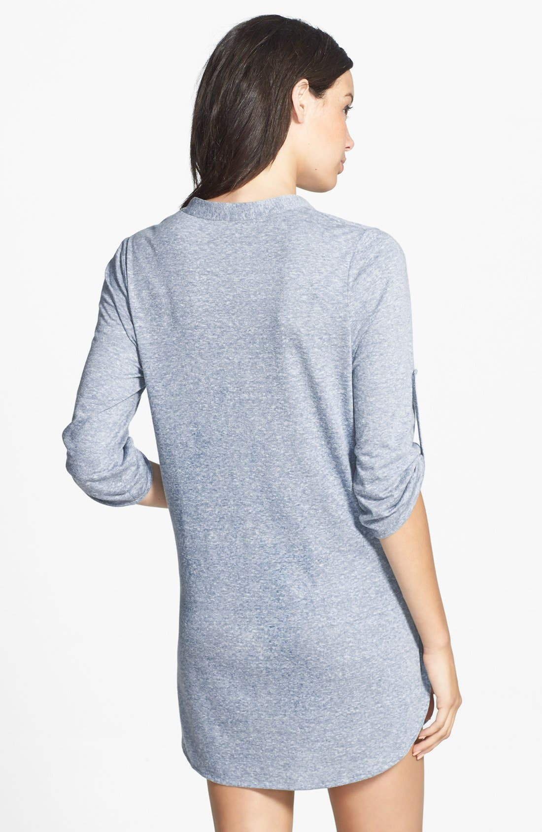Alternate Image 2  - Eberjey Roll Sleeve Heather Tunic