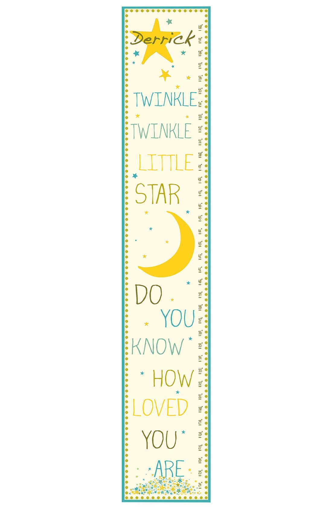 Alternate Image 1 Selected - Stupell 'Twinkle, Twinkle' Personalized Growth Chart