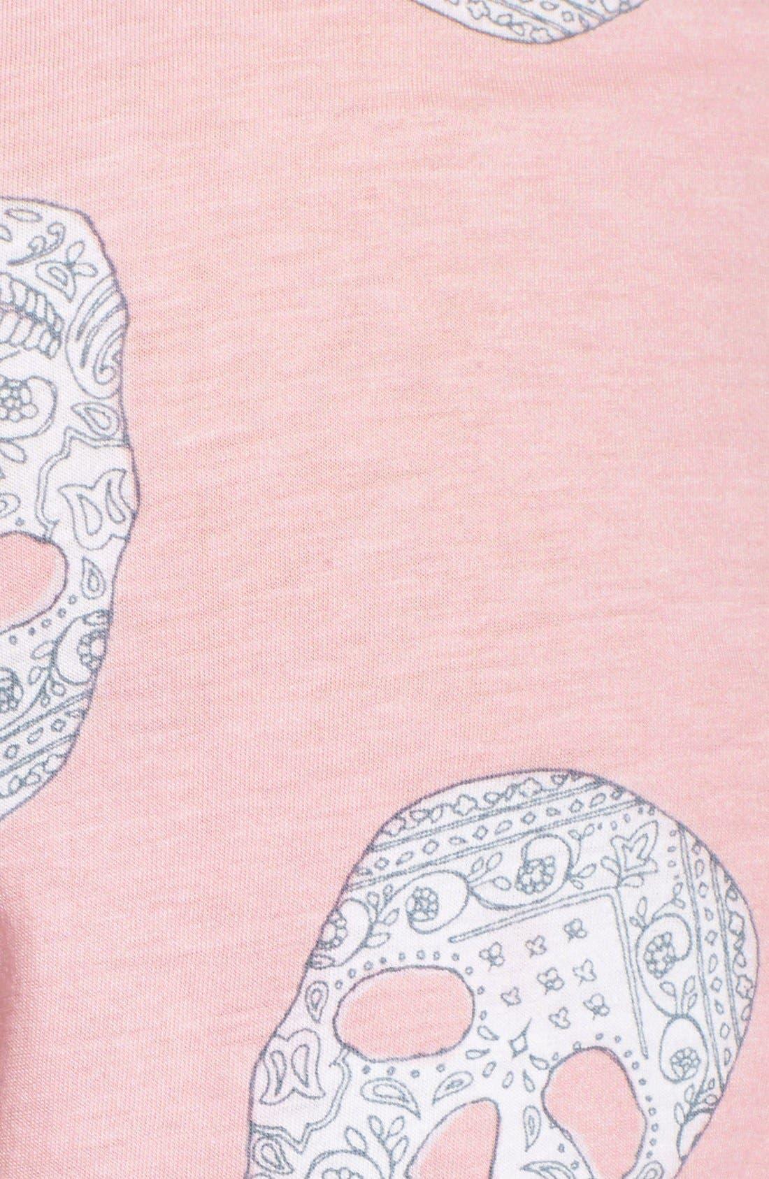 Alternate Image 3  - PJ Salvage 'Girly Skull' Print Knit Shorts
