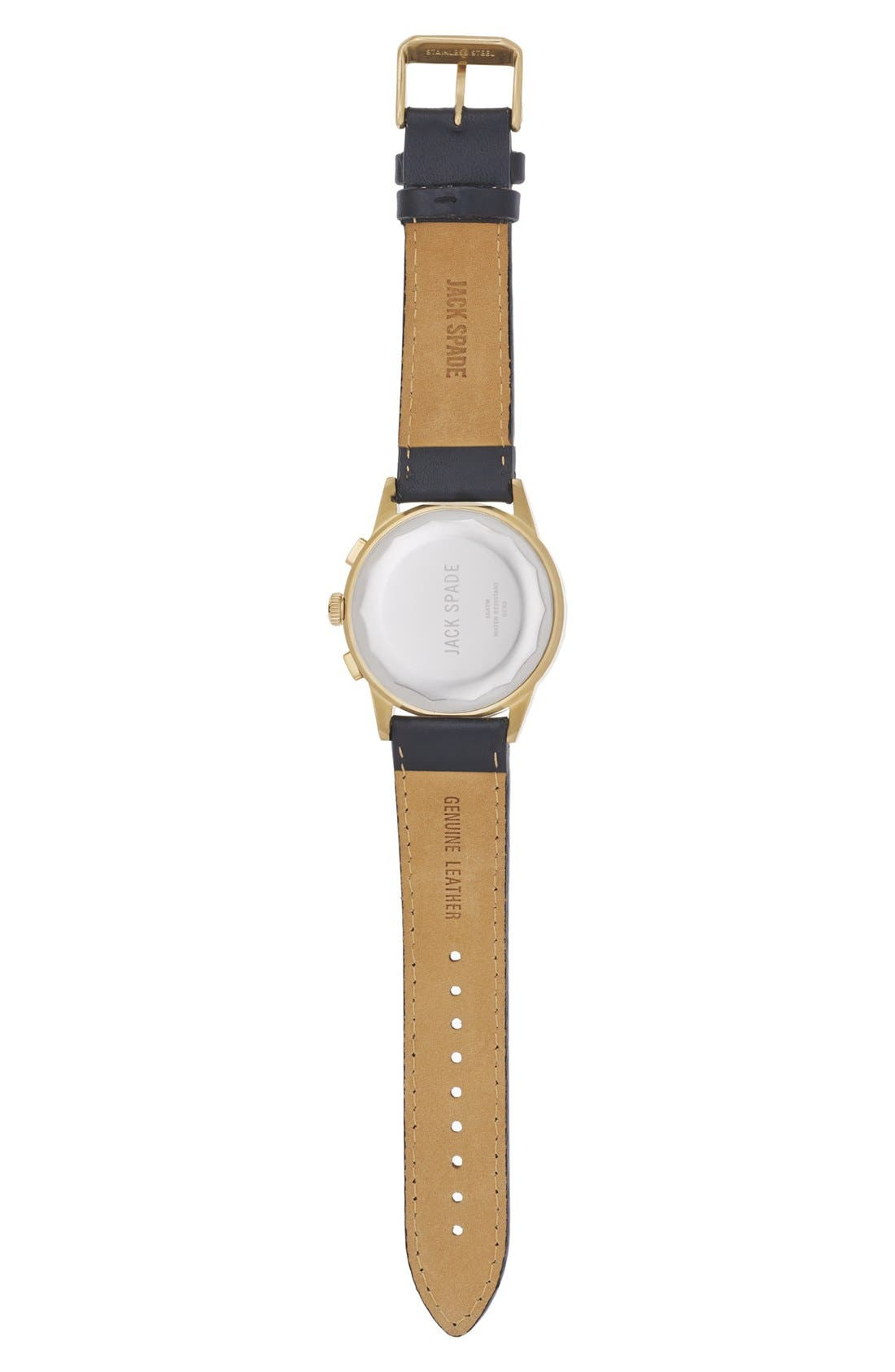Alternate Image 2  - Jack Spade 'Bailey' Chronograph Leather Strap Watch, 42mm