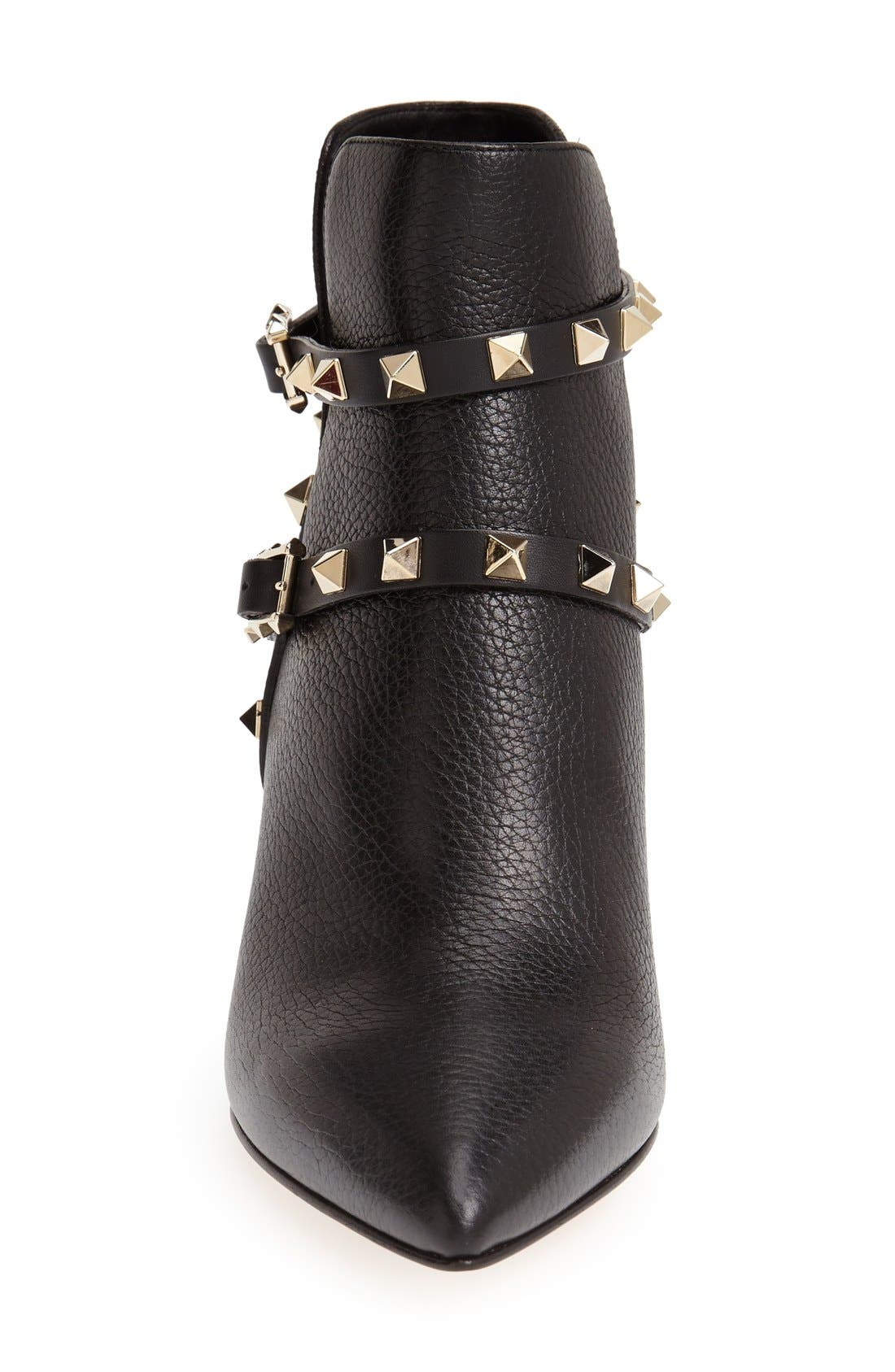 Alternate Image 3  - Valentino 'Rockstud' Pointy Toe Calfskin Leather Bootie (Women)