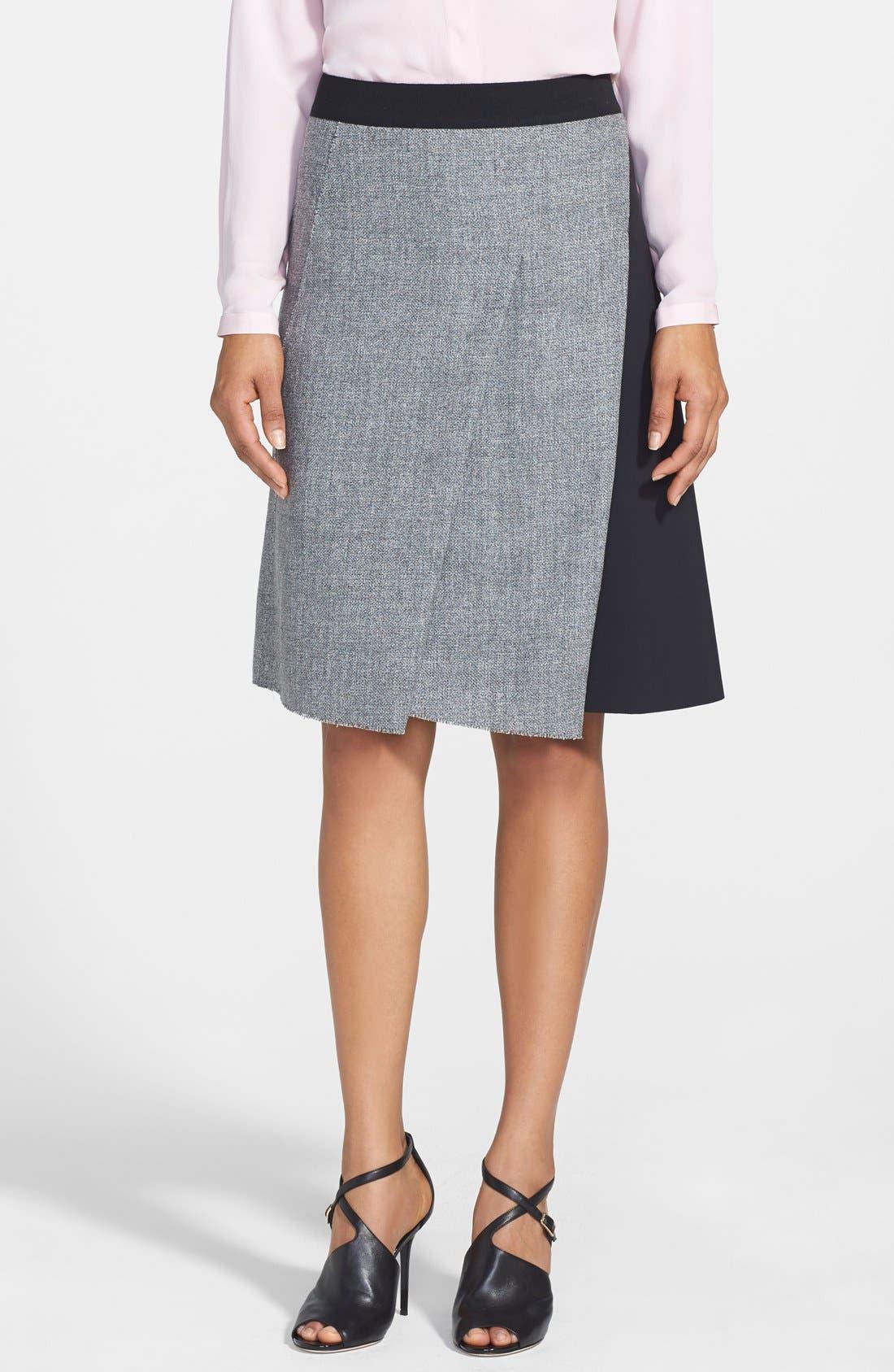 Alternate Image 1 Selected - Elie Tahari 'Larissa' Colorblock Tweed Skirt