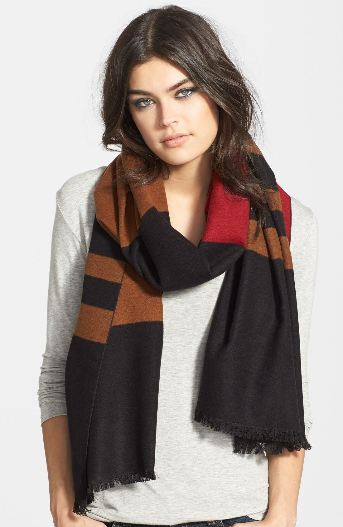 Main Image - Chelsey Striped Silk Wrap