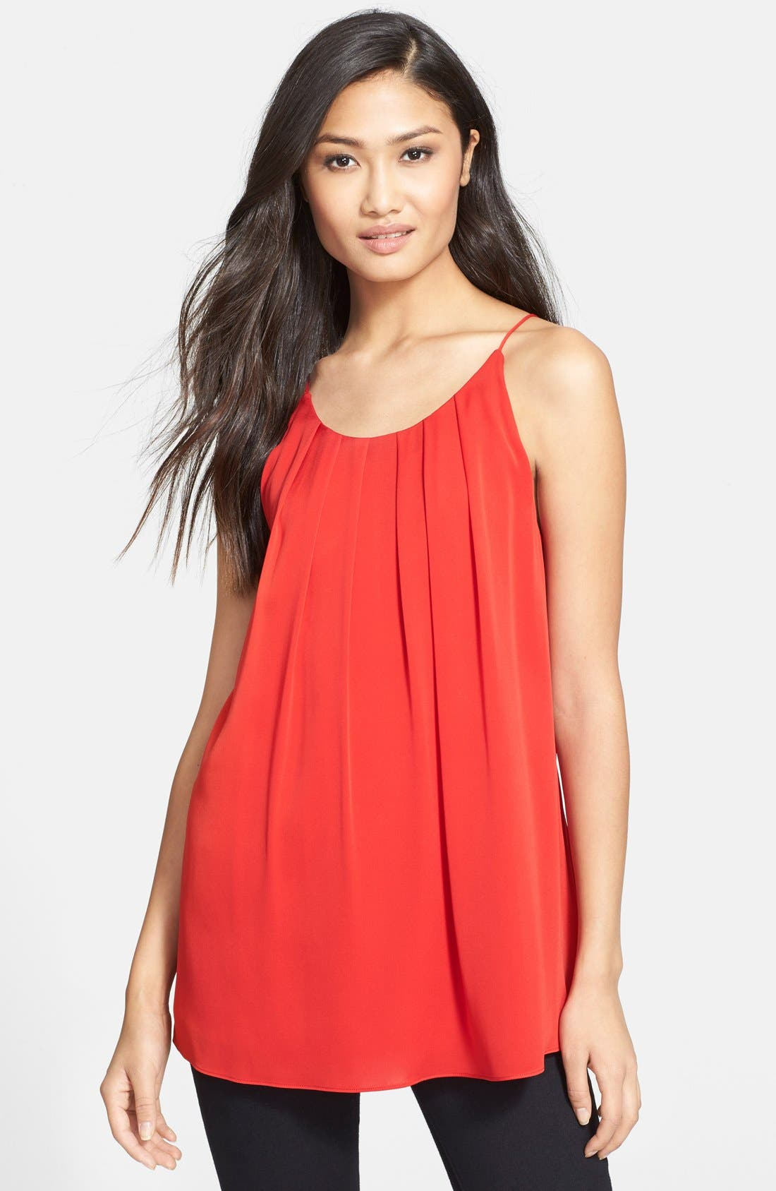 Main Image - Milly Pleat Neck Tank