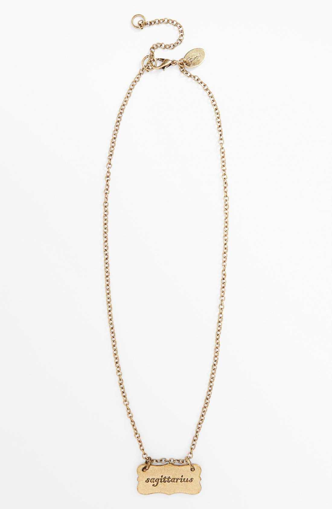 Alternate Image 4  - Berry 'Zodiac - Sagittarius' Reversible Pendant Necklace (Goldtone)
