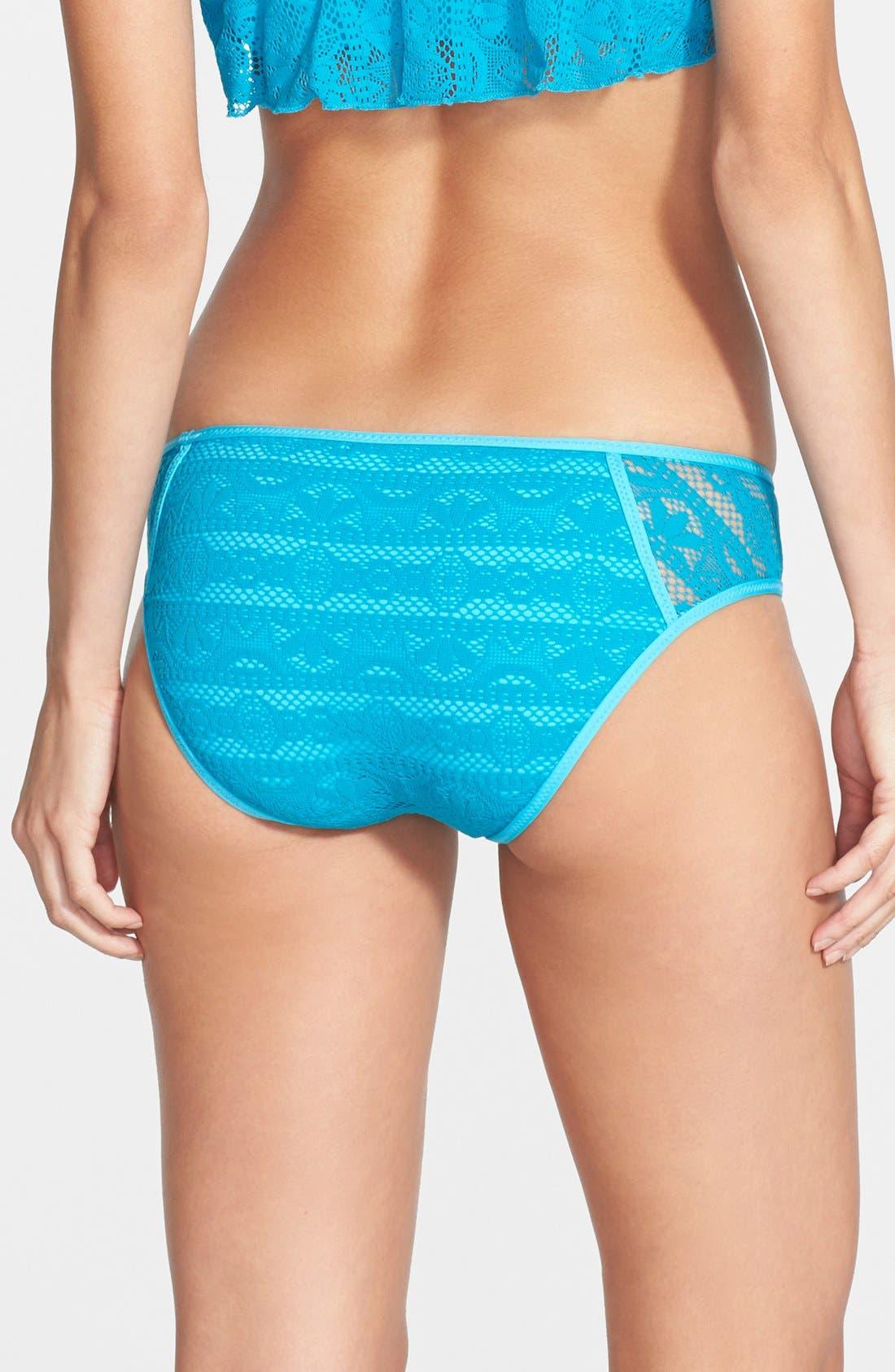 Alternate Image 2  - Becca 'Show & Tell' Crochet Bikini Bottoms