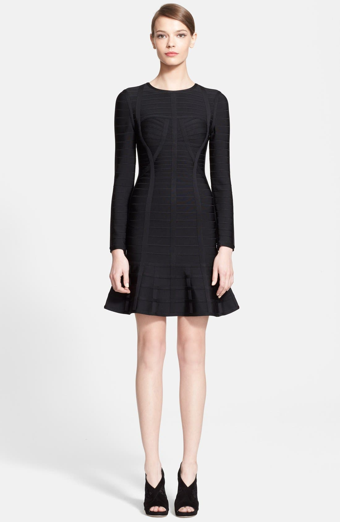 Alternate Image 1 Selected - Herve Leger Long Sleeve Bandage Dress