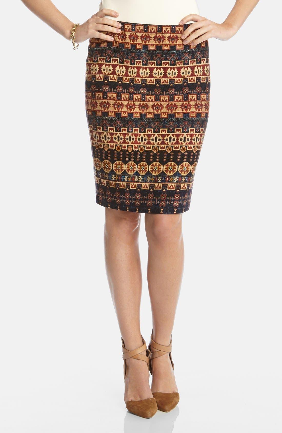 Alternate Image 1 Selected - Karen Kane 'Santa Fe' Pencil Skirt