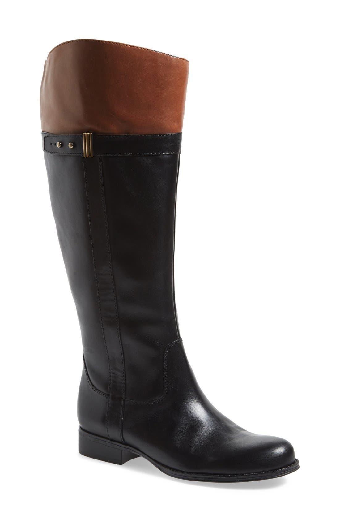 Alternate Image 1 Selected - Naturalizer 'Josette' Knee High Boot (Wide Calf) (Women)
