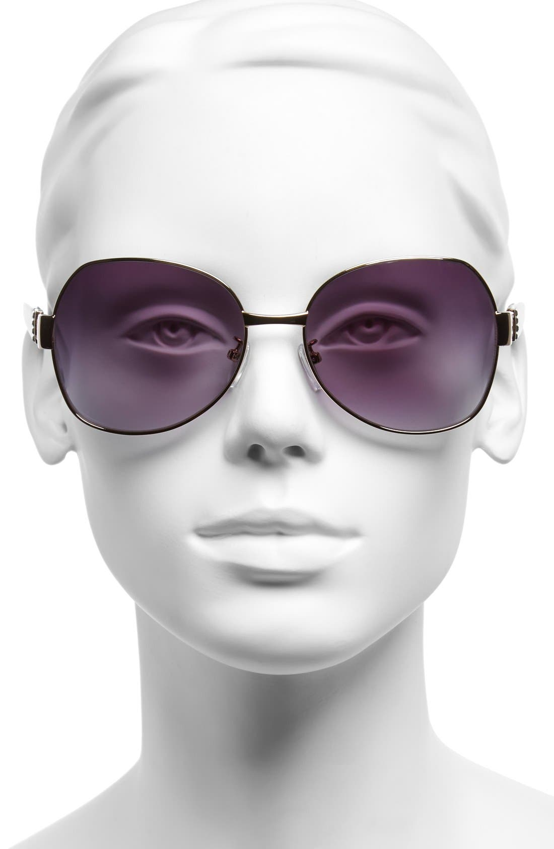 Alternate Image 2  - Furla 59mm Swarovski Crystal Sunglasses
