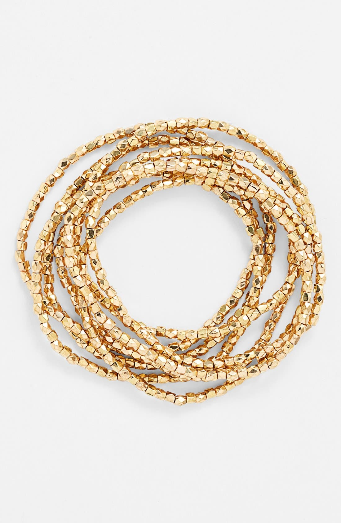 Main Image - Nordstrom 'Layers of Love' Bead Stretch Bracelets (Set of 7)