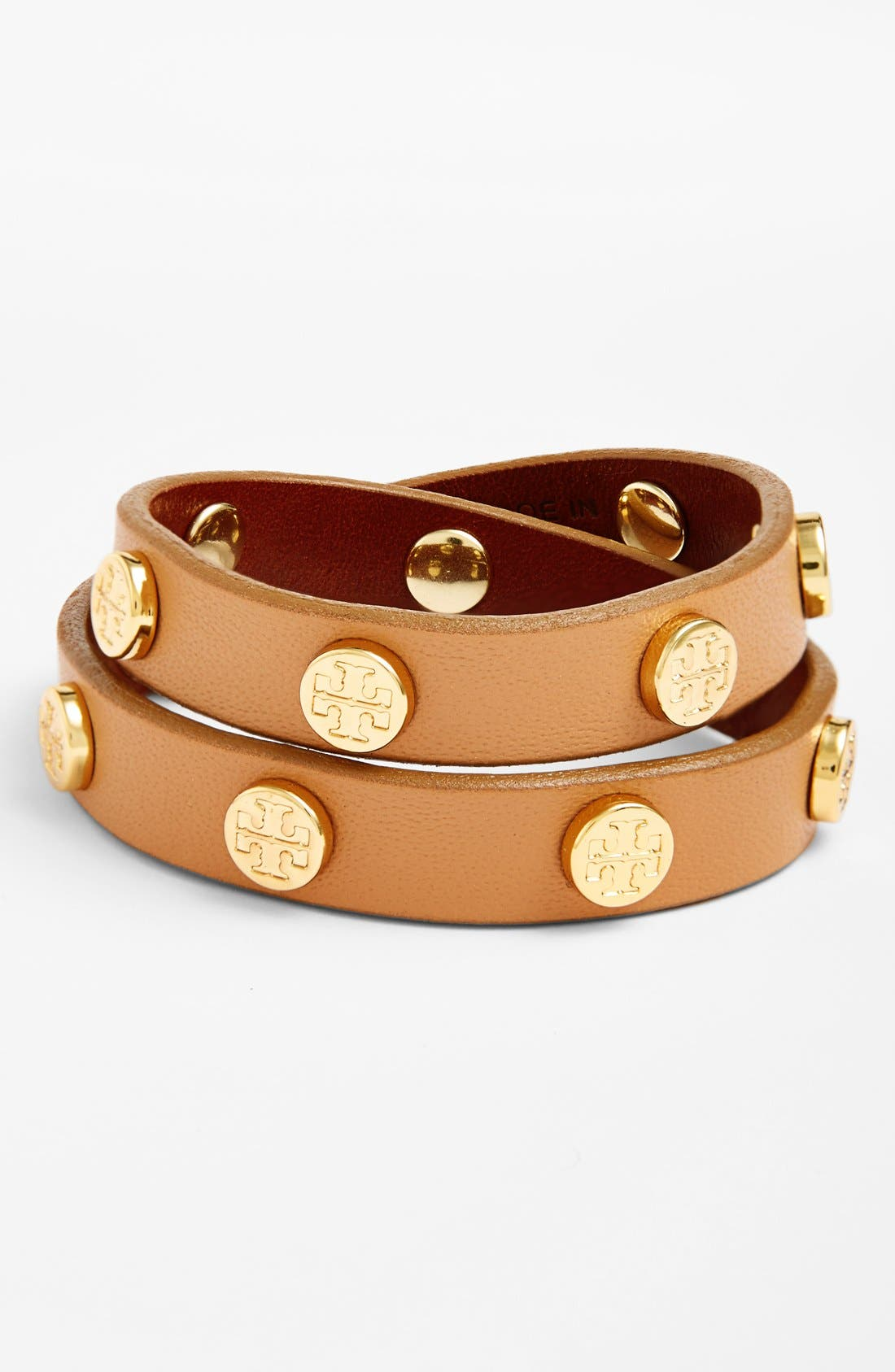 Main Image - Tory Burch Double Wrap Logo Bracelet