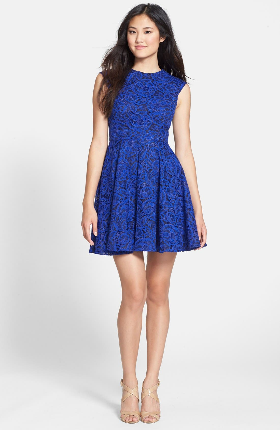 Alternate Image 3  - Cynthia Rowley Lace Fit & Flare Dress