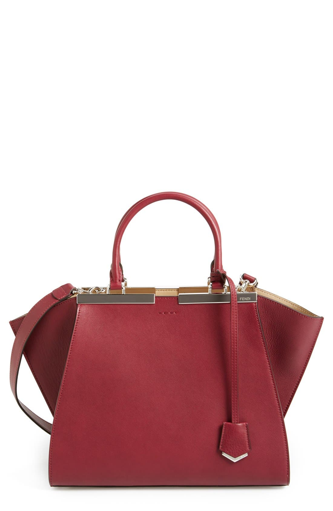 Alternate Image 1 Selected - Fendi 'Petit 3Jours' Leather Shopper