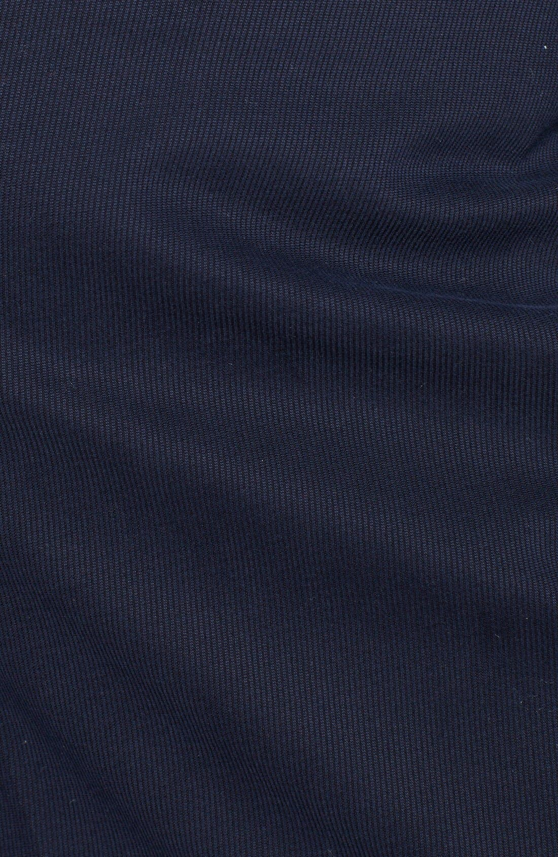 Alternate Image 2  - Canali Flat Front Stretch Cotton Trousers