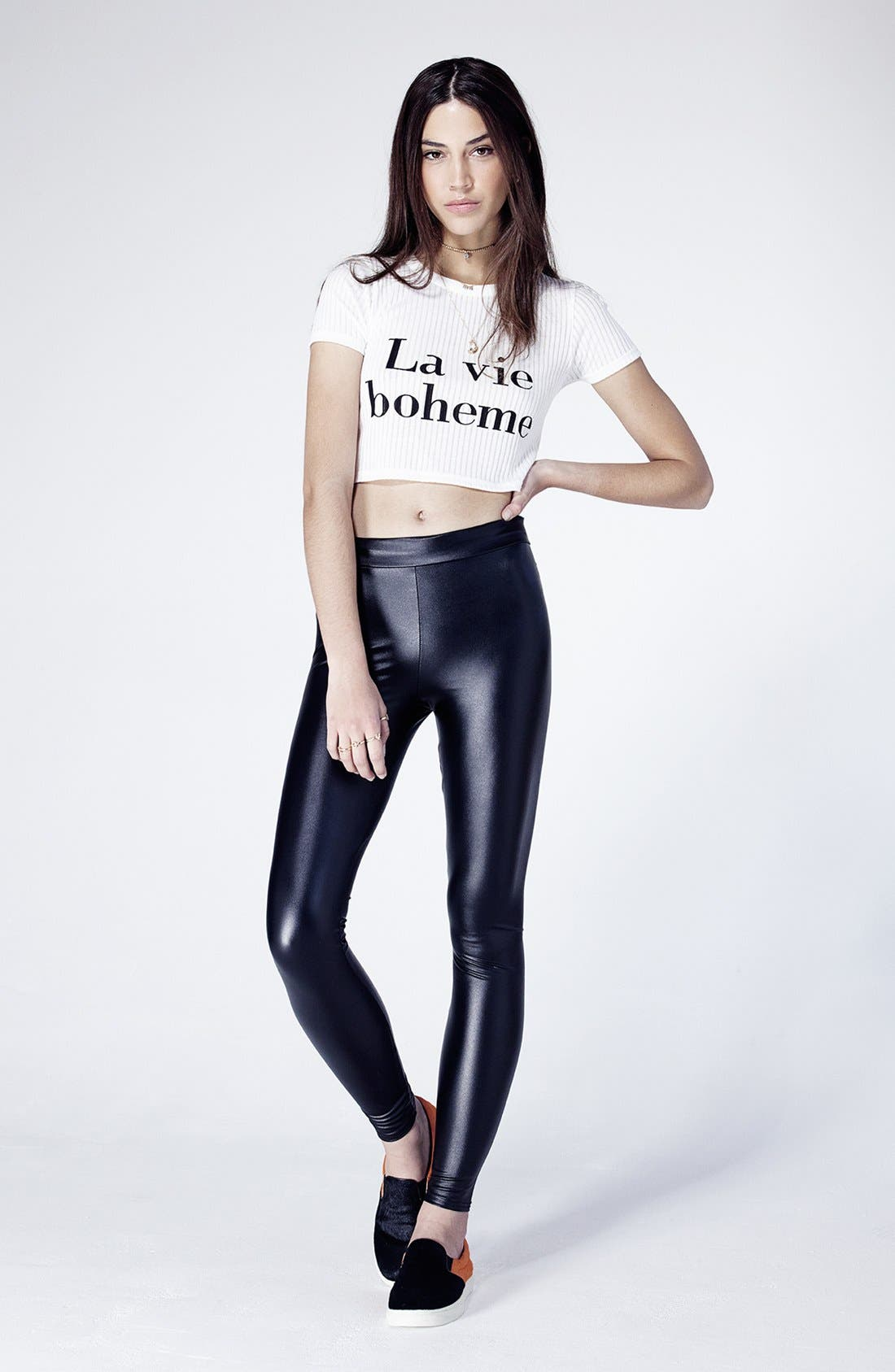Alternate Image 5  - Topshop Faux Leather Leggings