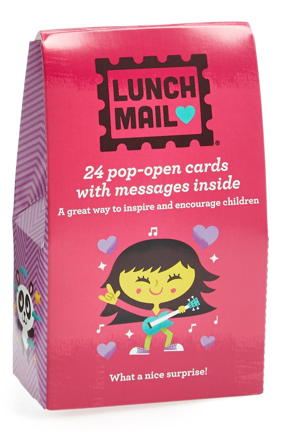 Main Image - Compendium 'Lunch Mail: For Girls' Note Cards (Set of 24)