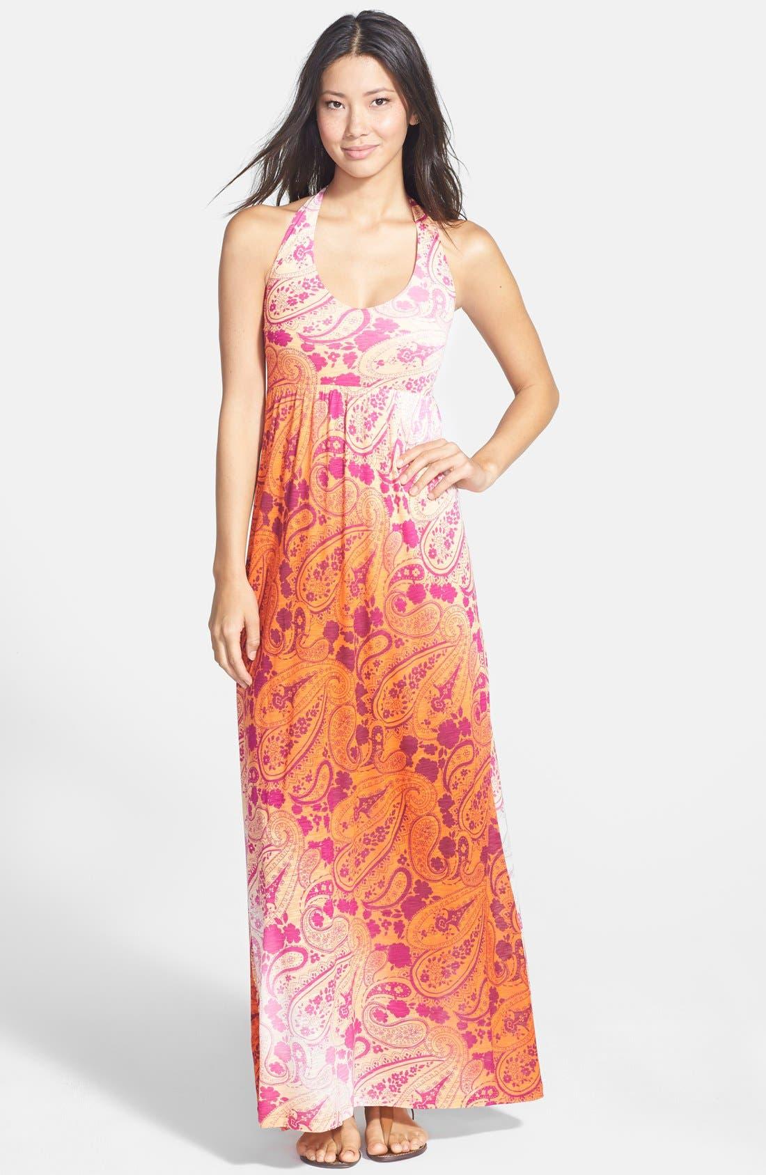 Main Image - Tommy Bahama 'Casa Sunrise' Halter Maxi Dress