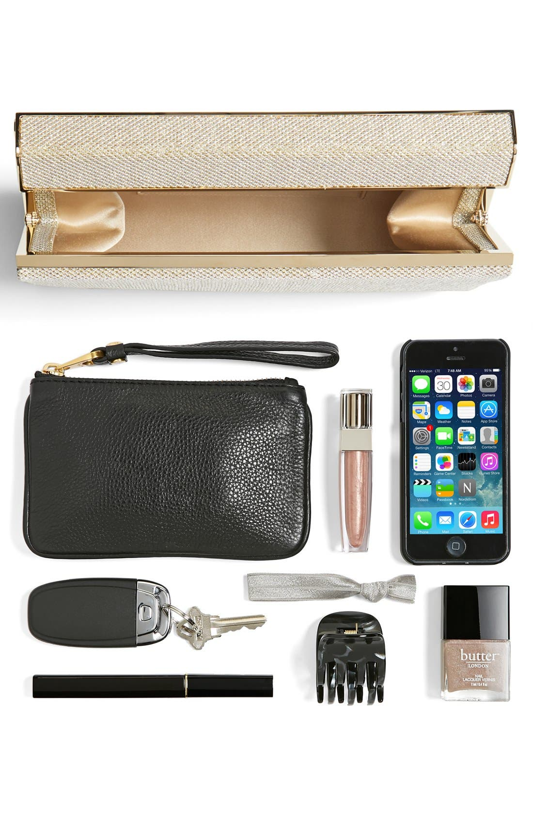 Alternate Image 5  - Jimmy Choo 'Cayla' Lamé Glitter Clutch