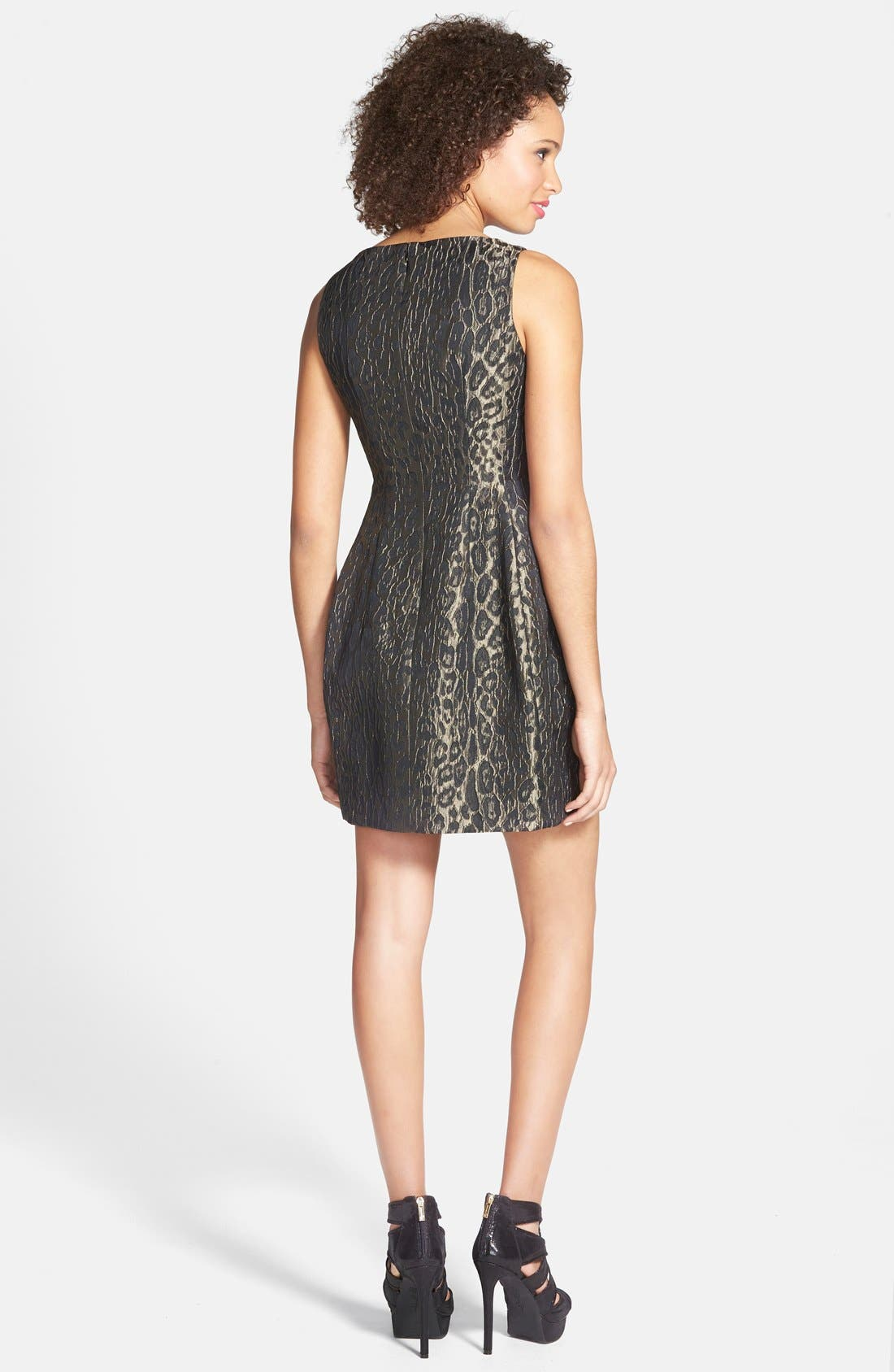 Alternate Image 2  - Alexia Admor Sleeveless Jacquard Fit & Flare Dress