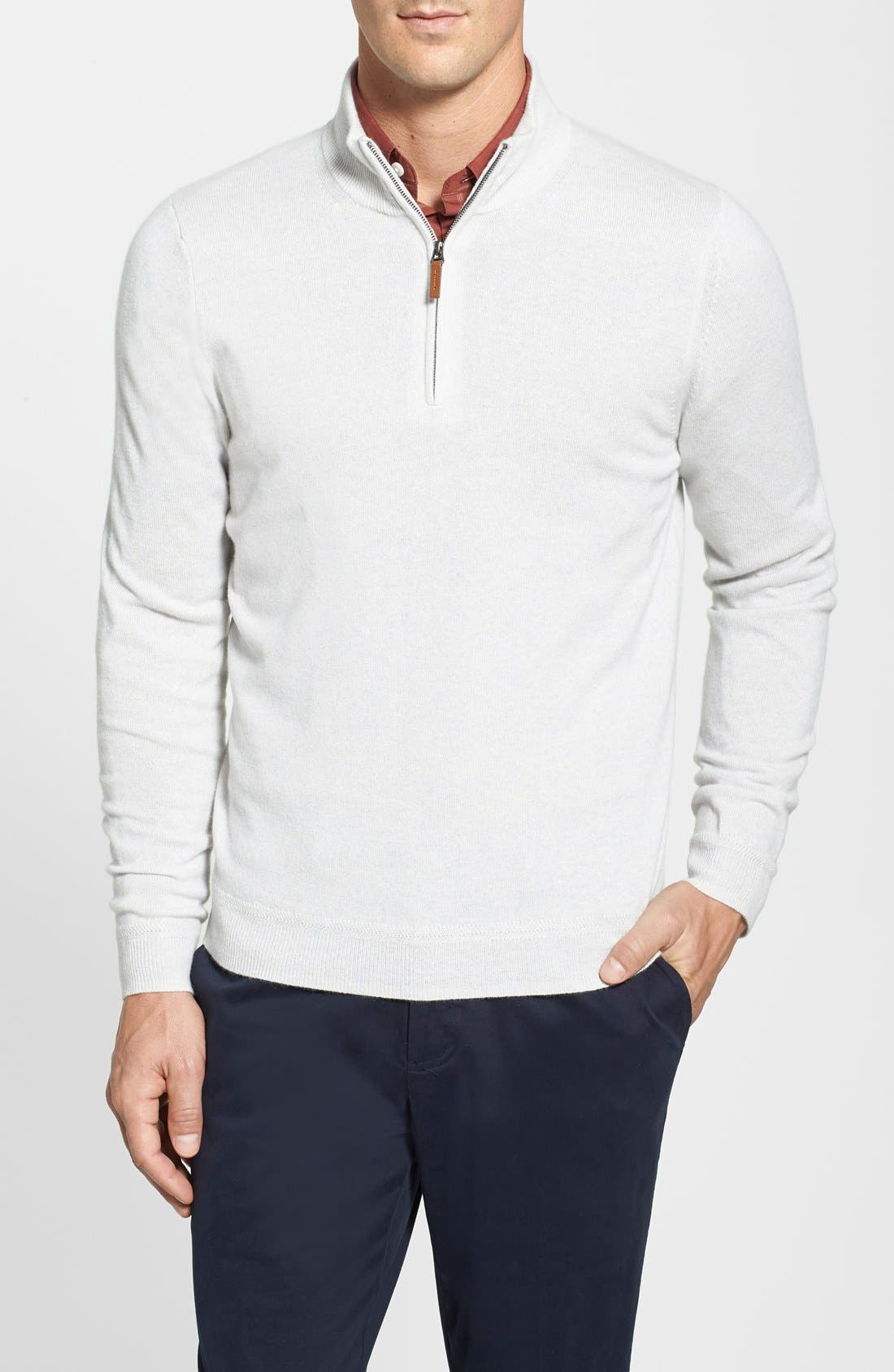 Alternate Image 1 Selected - John W. Nordstrom® Half Zip Cashmere Sweater