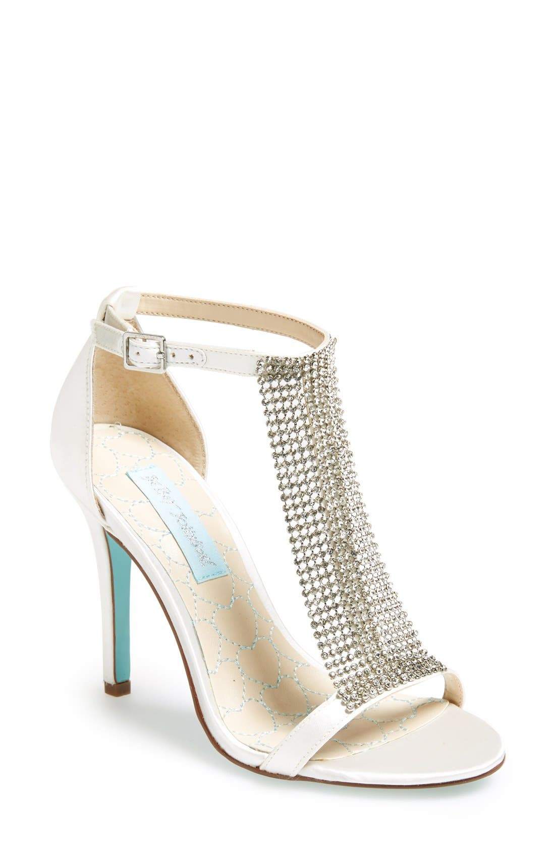 Alternate Image 1 Selected - Blue by Betsey Johnson 'Mesh' Sandal (Women)
