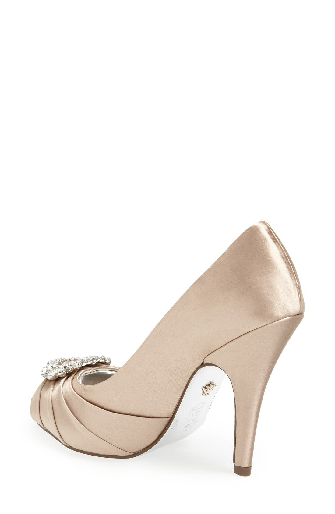 Alternate Image 2  - Nina 'Elvira' Peep Toe Pump (Women)
