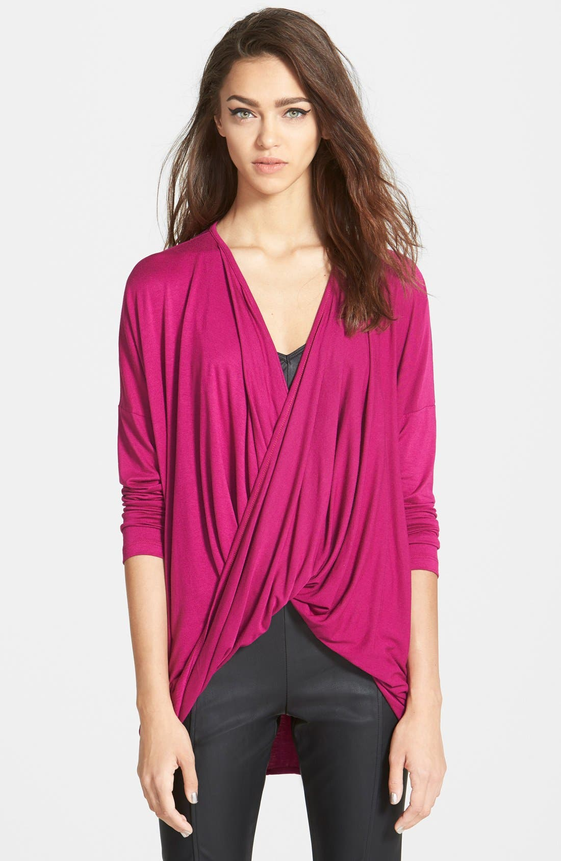 Alternate Image 1 Selected - June & Hudson Crossover Knit Top