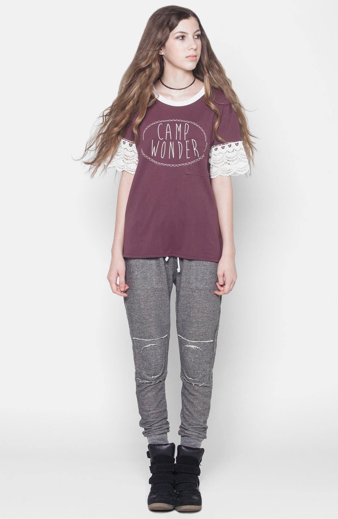 Alternate Image 4  - ISABELLA ROSE TAYLOR Skinny Lounge Pants (Juniors)