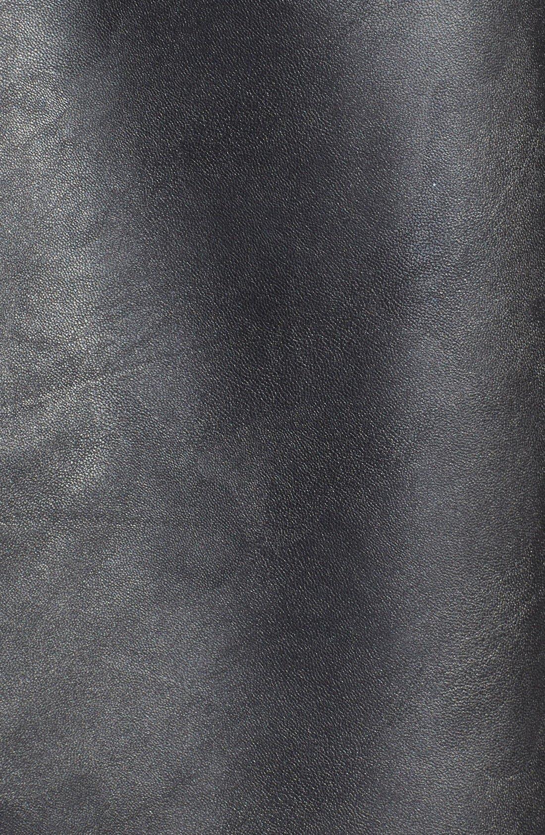 Alternate Image 3  - Halogen® Faux Leather Circle Skirt (Plus Size)