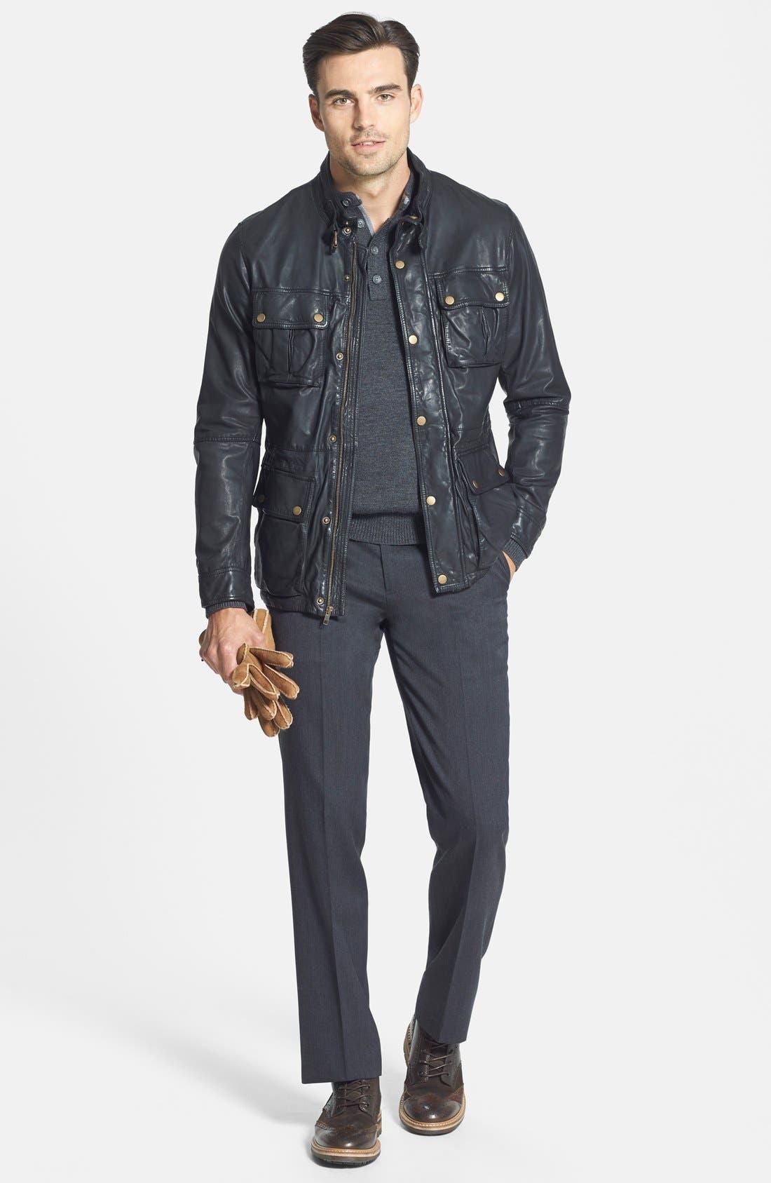 Alternate Image 4  - Cole Haan Vintage Lambskin Leather Jacket