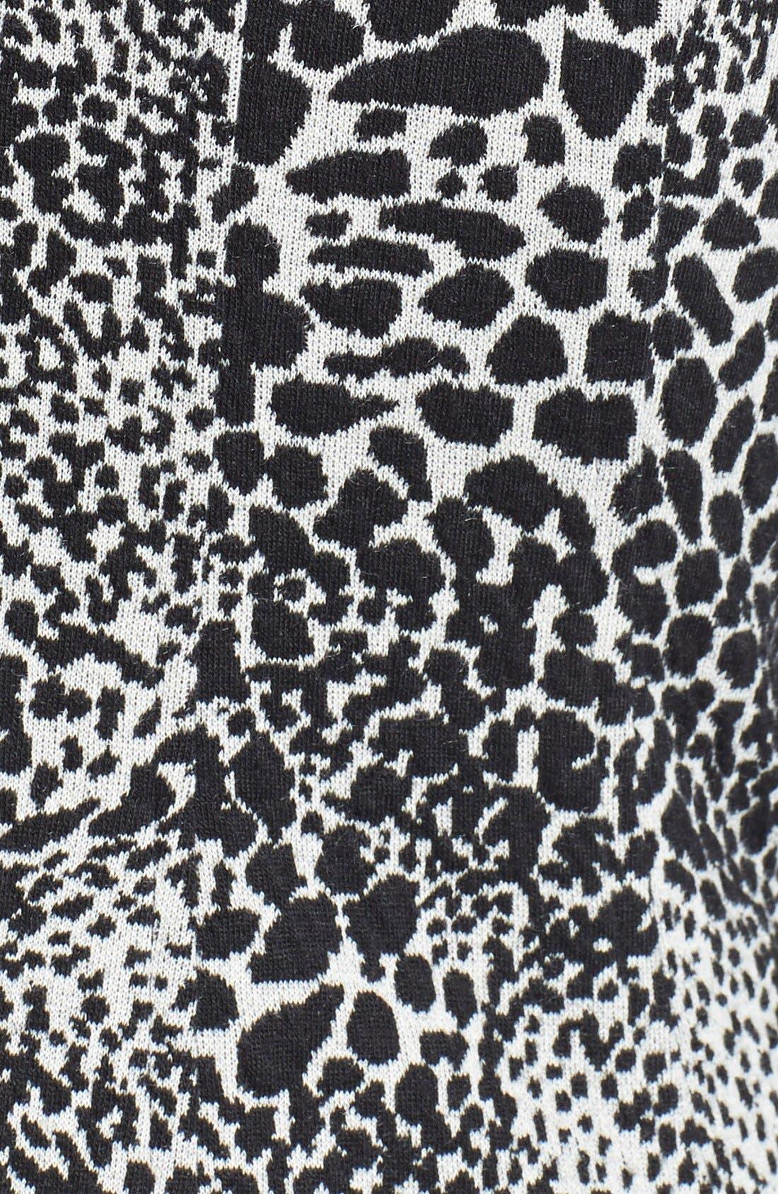 Alternate Image 4  - Taylor Dresses Jacquard Knit Fit & Flare Dress (Regular & Petite)
