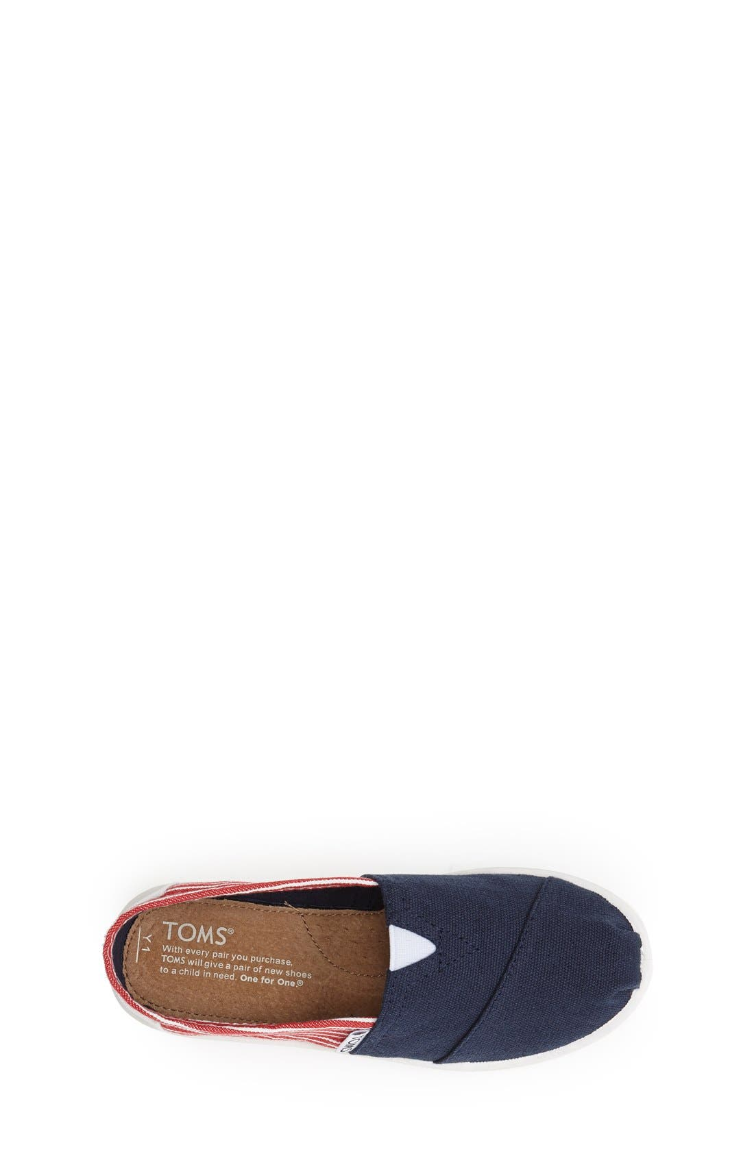 Alternate Image 3  - TOMS 'Youth Classic - Freedom' Slip-On (Toddler, Little Kid & Big Kid)