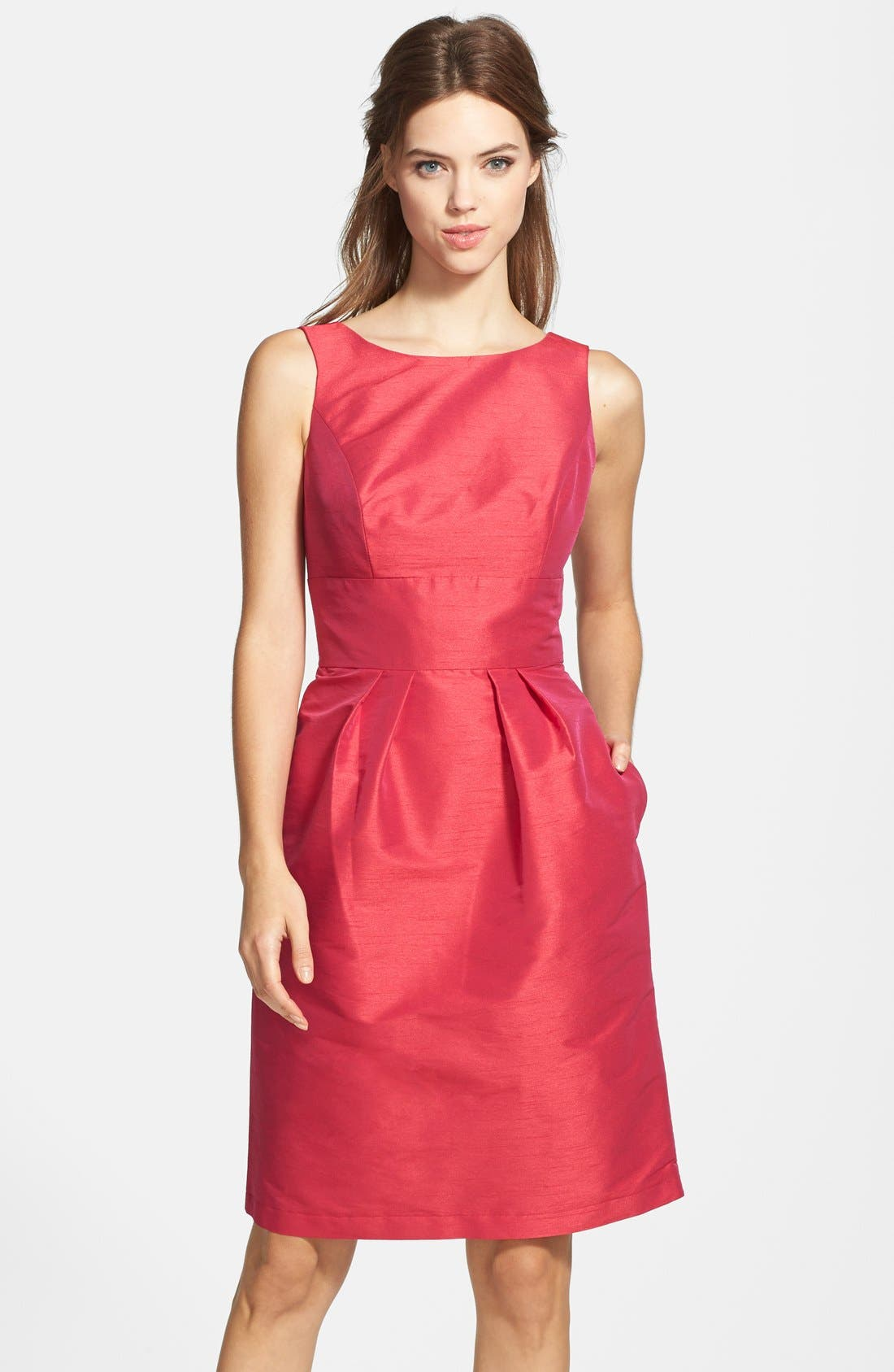 Main Image - Alfred Sung Boatneck Sheath Dress