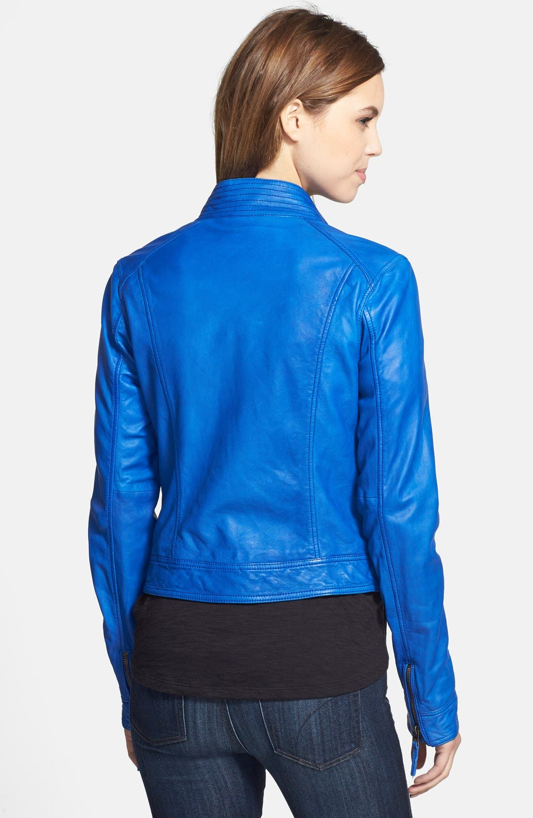 Alternate Image 2  - Lucky Brand 'Downtown Gypsy' Leather Jacket